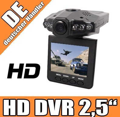 Magnum® HD DVR Dashcam Auto Kamera 2,5' TFT LCD Screen Nachtsicht LED Bewegunsmelder blackbox Dashcam V2