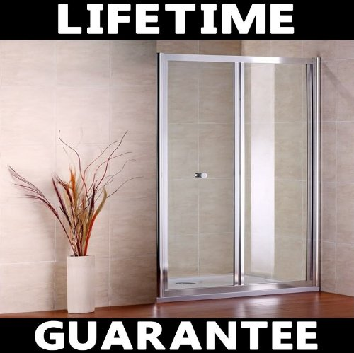 900mm Chrome Bifold Shower Door Cubicle Enclosure Screen Glass (NS2-90)