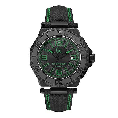 Guess X79011G2S - Reloj con correa de caucho para hombre, color negro / gris
