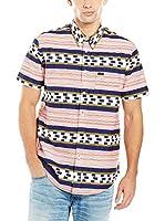 Lee Camisa Hombre Button Down Ss Lava (Multicolor)