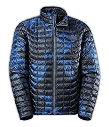 The North Face ThermoBall Full Zip Jacket (Medium, Cosmic Blue Brush Stroke Print)