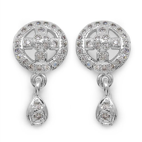 2.70 Grams American Diamond Brass Earrings
