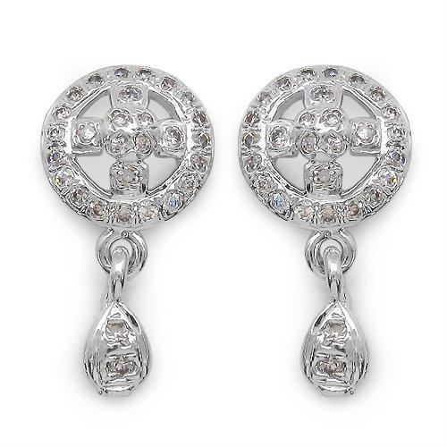 2.70 Grams American Diamond Brass Earrings