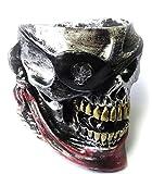 灰皿 アンティーク アシュトレイ 髑髏 海賊 (ブラック)