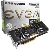 EVGA GeForce GTX770 SuperClocked with EVGA ACX Cooler, 2GB GDDR5 256bit, DL DVI-I, DVI-D, HDMI, DP, SLI Ready Graphics Cards (02G-P4-2774-KR)