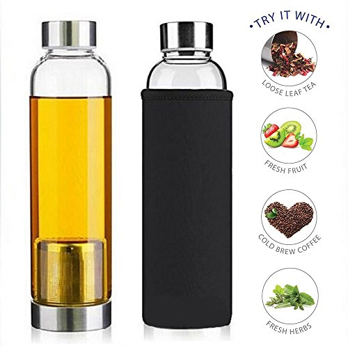 Why Should You Buy Teabloom Tea Bottle with Infuser - 20 Oz Heat Resistant Glass Tea Strainer Bottle...