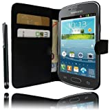 Etui Housse Luxe Portefeuille pour Samsung Galaxy Trend Lite S7390 + STYLET et 3 FILM OFFERT !