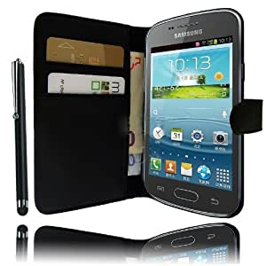Etui Housse Luxe Portefeuille pour Samsung Galaxy Trend Lite S7390 + STYLET et 3 FILM OFFERT !