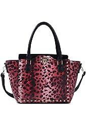 MyLux® Connection Women Crocs/Leopard Shoulder Handbag