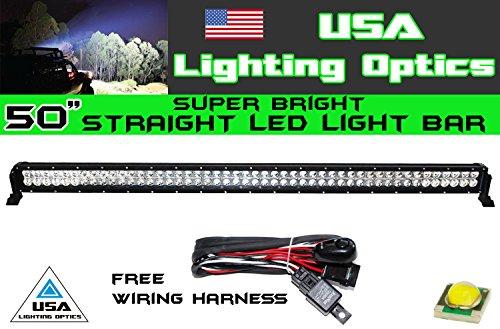 50 Inch 288W Led Light Bar By Usa Light Optics Tm Spot Flood Combo Beam Lumens 20160Lm Great For Offroad Trucks 4X4 Radius Fog, Jeeps, Truck, Utv Suv 4Wd