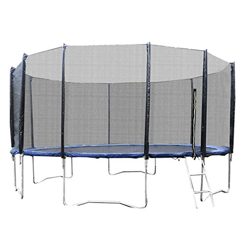 Giantex-Trampoline-Combo-Bounce-Jump-Safety-Enclosure-Net-Wspring-Pad-Round-14FT