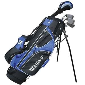 Masters MC-J520 Half Set Kit clubs de golf 6 à 8 ans Gaucher Fibre de carbone Junior Noir/bleu