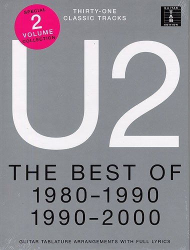 U2: The Best Of 1980-1990 An... Tablature Guitare Partitions en Édition Slipcase