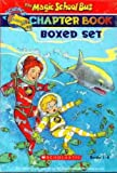 img - for The Magic School Bus Chapter Book Boxed Set, Books 1-8: Penguin Puzzle, The Great Shark Escape, The Giant Germ, Twister Trouble, Space Explorers, The Wild Whale Watch, The Search for the Missing Bones, and The Truth About Bats book / textbook / text book