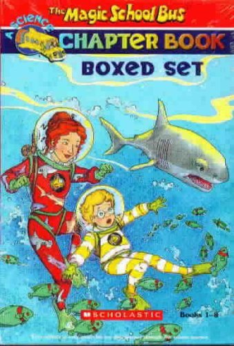 Magic School Bus Science Chapter Books Boxed Set (8):Truth About  Bats, Search for the Missing Bones, Wild Whale Watch, Space Explorers, Twister Trouble, Giant Germ, Great Shark Escape, Penguin Puzzle