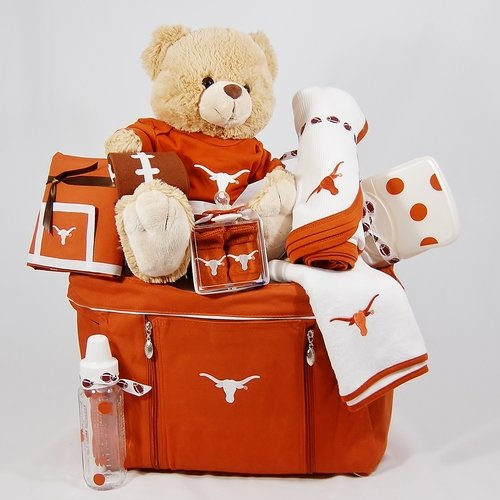 Texas Longhorns Boy's Diaper Bag Gift Basket at Amazon.com