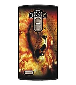 PrintDhaba Lion Face D-5426 Back Case Cover for LG G4 (Multi-Coloured)