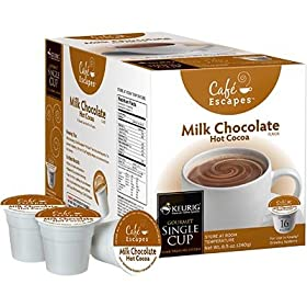 Milk Chocolate Hot Cocoa 96 K-Cups By Café Escapes, 96 K-Cups: Office Products