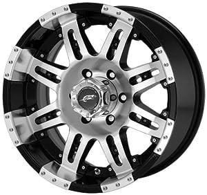 "Dale Earnhardt JR Cannon DJ1093 Gloss Black Machined Wheel with Clear Coat (17x8.5""/8x6.5"")"