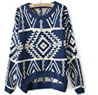 2013 Autumn New Casual Knit Woman Pullovers Sweater (Denim Blue)