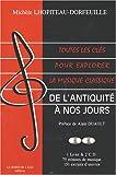 echange, troc Michèle Lhopiteau-Dorfeuille - Toutes les clés pour explorer la musique classique : De l'Antiquité à nos jours (2CD audio)