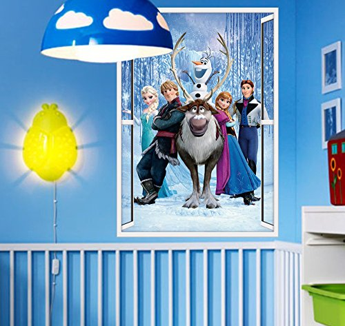 Character Princess Decal Wall Sticker Amazing Window View Decor Removeable For Home Kids Nursery Room Mural Decoration front-966931