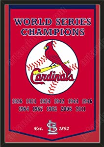 Dynasty Banner Of St. Louis Cardinals-Framed Awesome & Beautiful-Must For A... by Art and More, Davenport, IA