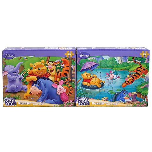 Cheap Disney Winnie the Pooh 2-Puzzle Pack [24-PCS Tigger Diving / Pooh and Family] (B0038981OC)