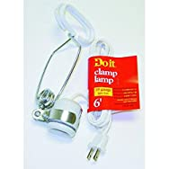 Woods Ind. 550328 Do it Clamp Lamp-PORCELAIN CLAMP LAMP