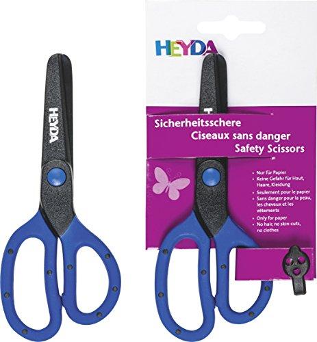 Heyda-2048081-Sicherheitsschere-13-cm-Klinge-aus-Kunststoff-ohne-Metall