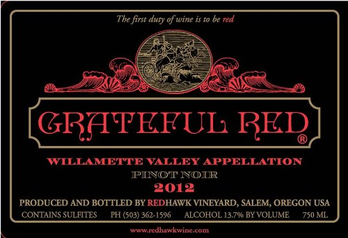 2012 Redhawk Grateful Red Pinot Noir 750 Ml