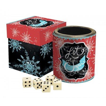 LANG - Dice Cup - Winter Magic - Art by LoriLynn Simms