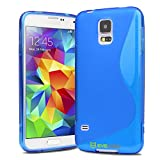 Evecase S-Line TPU Case Cover for Samsung Galaxy S5, S 5 - Blue (AT&T, Verizon, Sprint, T-Mobile and All Versions Compatible)