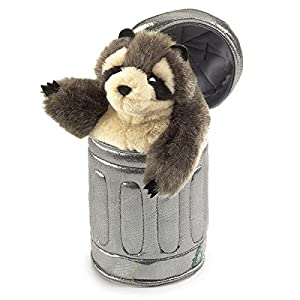 Folkmanis Raccoon In Garbage Can Hand Puppet from Folkmanis