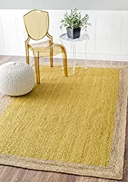 Nuloom 4\' x 6\' Hand Woven Eleonora Rug in Yellow