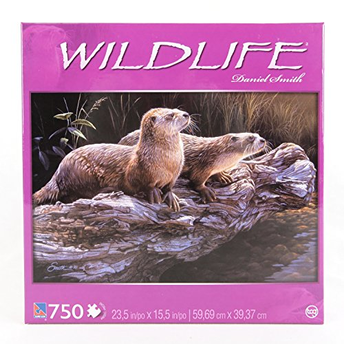 Sure-Lox Widlife 750 pc Puzzle - River Otter By Daniel Smith