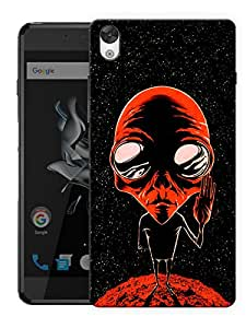 "Humor Gang Alien Says Peace - Red Printed Designer Mobile Back Cover For ""OnePlus X"" (3D, Matte, Premium Quality Snap On Case)..."