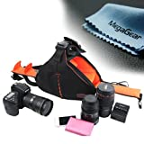 MegaGear DSLR Camera Black Case Bag for Canon EOS 60D, Canon EOS 1200D, 6D, T3i, T4i, T5i, 7D, 700D, 650D, 600D, 70D, 5D MK, Series Nikon 600D, D7000, D7100, D5200, D3200, D3300, D800, D300s, D610, Nikon DF