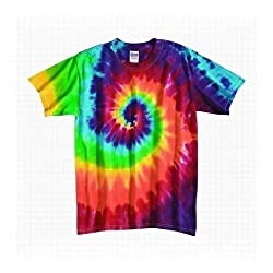 Tie Dye Mania Infant Retro Rainbow Swirl Tie-Dye Short Sleeve T