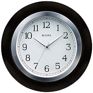 bulova zephyr 18 round wall clock home kitchen