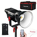 Aputure Light Storm COB 120D 135W 6000K Daylight Balanced LED Continuous V-Mount Video Light CRI97+ TLCI97+ 14000lux@0.5M Bowens Mount Dual Power Supply 2.4G Remote Control 18dB Low Noise with Bag