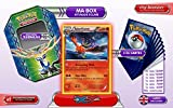 The metal box TALONFLAME holo 28/146 XY Flashfire + 1 Optimized Booster of 6 English new rare cards + 1 Optimized Booster of 50 English new common cards