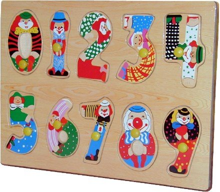 Cheap Fun Wooden Numbers Peg Puzzle (B002QPRS84)