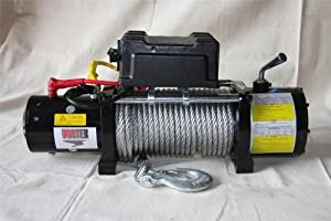 NEW VORTEX 9500 LB Pound Recovery Winch Bonus Package! 2 remotes Jeep Truck or Trailer