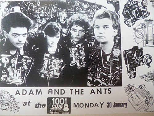 Adam and the Ants, The 100 Club, 1978 - Mounted Mini Poster