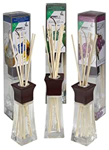 Greenair All Natural Reed Diffuser Set of 3, Honeysuckle, Jasmine and Fresh Linen, 6.6-Ounce