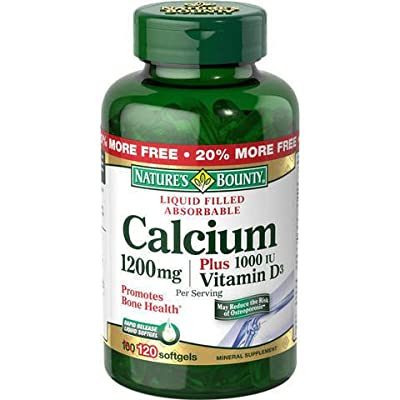 Nature's Bounty Calcium 1200 Mg. Plus Vitamin D3