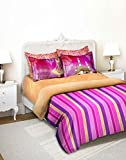 Tangerine Indie Tadka Hyderabad Cotton Double Comforter - Multicolour