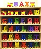 Personalized Colorful Wooden Train Alphabet Letter