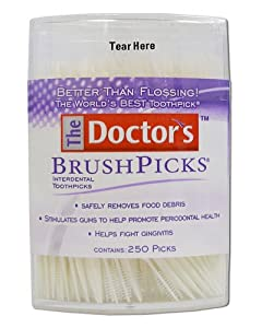 The Doctor's Brand BrushPicks Toothpicks-250ct